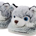 Dieren husky hond sloffen/pantoffels voor kinderen – Dierensloffen huisdieren voor jongens/meisjes 32-35