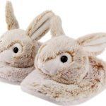 Dieren konijn/haas sloffen/pantoffels voor kinderen – Dierensloffen bosdieren voor jongens/meisjes 28-31