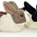 Dieren pantoffel konijn zwart 32-33