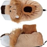 Dieren sloffen/pantoffels leeuw voor kinderen – Pluche dierensloffen leeuwenkop 29-30