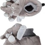 Dieren sloffen/pantoffels olifant voor kinderen – Pluche dierensloffen olifantenkop 27-28