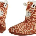 Kinder hoge dieren pantoffels/sloffen giraf 31-33