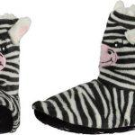 Kinder hoge dieren pantoffels/sloffen zebra 34-36