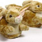 Volwassenen dieren sloffen / pantoffels konijn M (37-38,5)