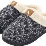 Pantoffels Dames – Sloffen – Maat 38/39 – Zwart/Grijs – Anti-slip – Comfeet
